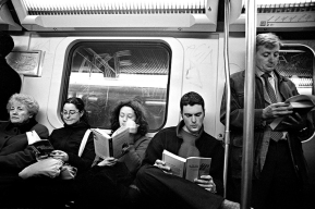 Reading on the Metro... everyone does it.